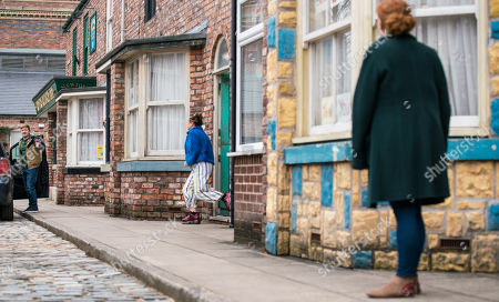 Coronation Street - Ep 10307 & Ep 10308 Friday 23rd April 2021 Fiz Stape, as played by Jennie McAlpine, calls at No.5 to find Chesney Brown, as played by Sam Aston, bundling an injured Joseph into the car. When Gemma Winter, as played by Dolly-Rose Campbell, reveals that Hope attacked him, Fiz is horrified.