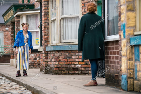 Coronation Street - Ep 10307 & Ep 10308 Friday 23rd April 2021 Fiz Stape, as played by Jennie McAlpine, calls at No.5 to find Chesney Brown bundling an injured Joseph into the car. When Gemma Winter, as played by Dolly-Rose Campbell, reveals that Hope attacked him, Fiz is horrified.