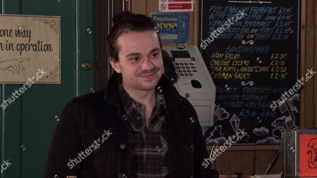 Coronation Street - Ep 10306 Wednesday 21st April 2021 - 2nd Ep When Nina Lucas invites him to stay the night and explains that she's okayed it with Roy and he's promised to stay out of the way, Seb Franklin's, as played by Harry Visinoni, thrilled.