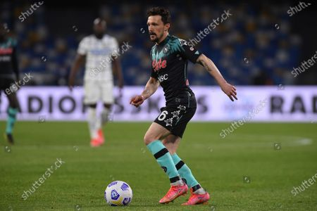 Mario Rui of SSC Napoli during the Serie A match between SSC Napoli and FC Internazionale at Stadio Diego Armando Maradona Naples Italy on 18 April 2021.