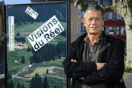 Stock Photo of France's author, screenwriter and film director Emmanuel Carrere poses for the photographer during the documentary film festival Visions du Reel (Visions of Reality) in Nyon, Switzerland, 19 April 2021.