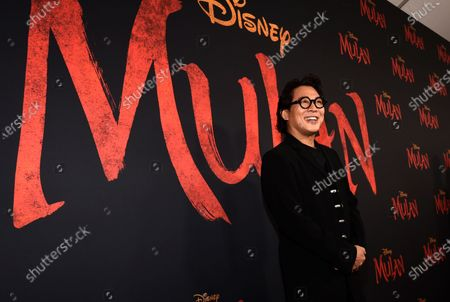 "Jet Li, a cast member in ""Mulan,"" poses at the premiere of the film, in Los Angeles. Li turns 58 on April 26"