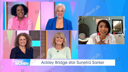 Stock Picture of Charlene White, Denise Welch, Nadia Sawalha, Jane Moore and Sunetra Sarker