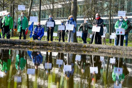 IBM union action protest, Brussels