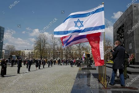 Editorial photo of 78th anniversary of the Warsaw Ghetto Uprising, Poland - 19 Apr 2021