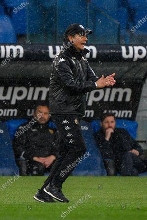 Filippo Inzaghi coach of Benevento Calcio reacts during the 2020-2021 Italian Serie A Championship League match between S.S. Lazio and Benevento Calcio at Stadio Olimpico. Final score; SS Lazio 5:3 Benevento Calcio.