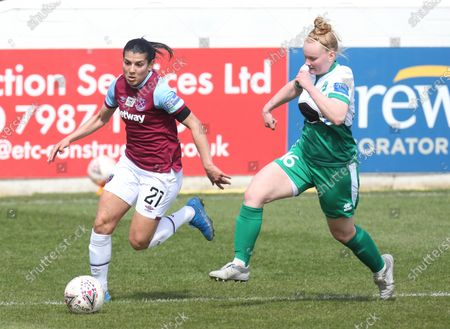 Editorial image of West Ham United Women v Chichester & Selsey Ladies - The Vitality Women's FA Cup Fourth Round Proper, Dagenham, United Kingdom - 18 Apr 2021