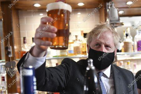 Boris Johnson visits The Mount pub, Wolverhampton