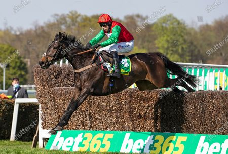 Editorial photo of Horse Racing from Sandown Racecourse, UK - 24 Apr 2021