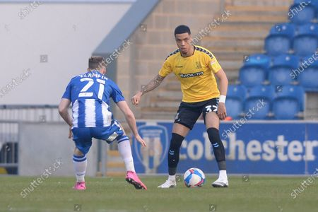 Editorial image of Colchester United v Southend United, EFL Sky Bet League Two, Football, The JobServe Community Stadium, Colchester, UK - 20 Apr 2021