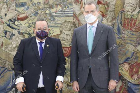 King Felipe VI meets with Guatemalan President Alejandro Giammattei, Madrid