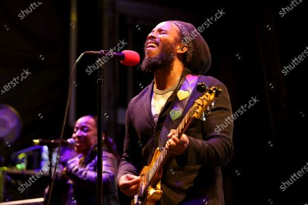 """Ziggy Marley performs at """"The World's Biggest Sleep Out"""" in Pasadena, Calif., on . The son of reggae icon Bob Marley and Rita Marley will perform at Nat Geo's Earth Day Eve 2021 streaming concert on Wednesday"""