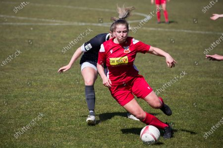 Editorial image of Port Talbot v Abergavenny, Welsh Premier Womens League football match, Victoria Road, Wales, UK - 18 Apr 2021