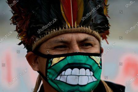Editorial photo of Indigenous Protest, Brasilia, Brazil - 19 Apr 2021