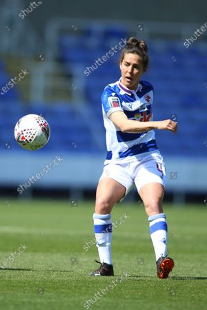 Fara Williams (4 Reading) during the FA Womens Cup game between Reading and Tottenham at Madejski Stadium in Reading, England