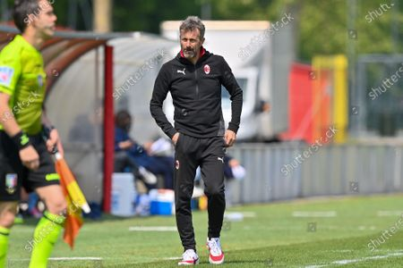 Maurizio Ganz (Head Coach AC Milan) during the women Serie A match between AC Milan and Napoli at Vismara Sports Center in Milan, Italy