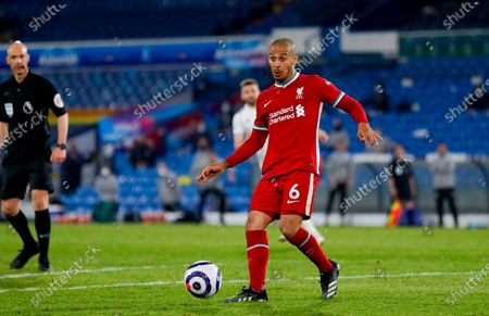 Liverpool midfielder Thiago Alcantara (6)  during the Premier League match between Leeds United and Liverpool at Elland Road, Leeds