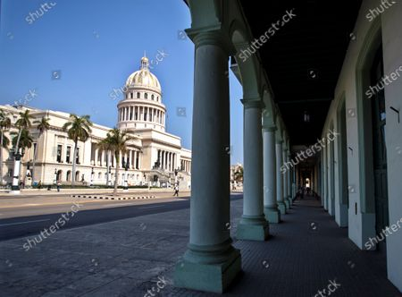 A picture taken of the Capitol, in Havana, Cuba, 19 April 2021. Cuban President Miguel Diaz-Canel Bermudez was elected First Secretary at Cuba's communist party congress on 19 April 2021, succeeding Raul Castro who was stepping down as the leader of the party.