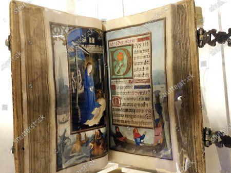 Editorial photo of Illumninated Books Auction, New York, United States - 16 Apr 2021