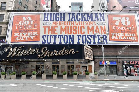 Editorial picture of 'The Music Man' marquee at the Winter Garden Theater, New York, USA - 19 Apr 2021
