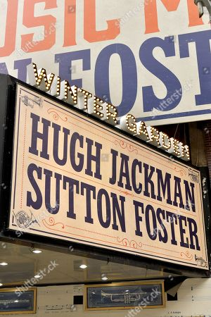 Editorial image of 'The Music Man' marquee at the Winter Garden Theater, New York, USA - 19 Apr 2021