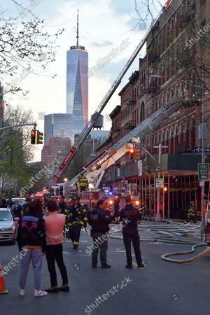 Two-Alarm Fire in Greenwich Village, New York