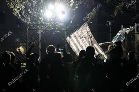 Protesters gathered outside of the Brooklyn Center Police Department on April 17, 2020. Protests continued for the seventh consectutive night outside the Brooklyn Center Police Department after former officer Kim Porter killed 20-year-old Daunte Wright in a traffic stop.