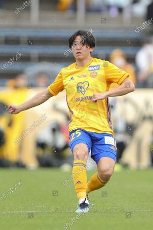 Stock Picture of Takumi Mase (Vegalta) - Football / Soccer : 2021 J1 League match between Yokohama FC 2-2 Vegalta Sendai at Nippatsu Mitsuzawa Stadium in Kanagawa, Japan.