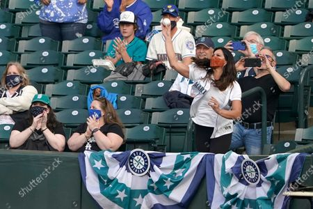 Editorial photo of Dodgers Mariners Baseball, Seattle, United States - 19 Apr 2021