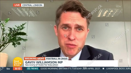 Editorial photo of 'Good Morning Britain' TV Show, London, UK - 20 Apr 2021