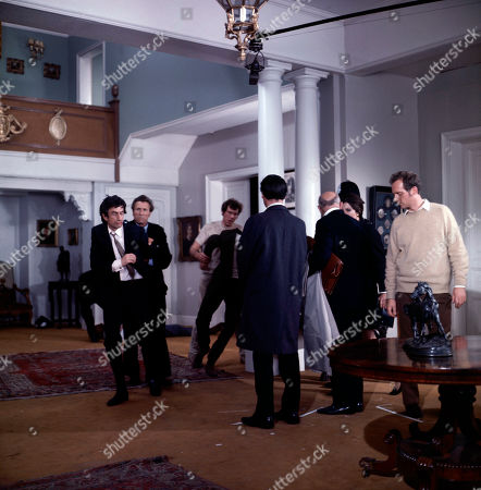 The Police arrive to save Jeff Randall, as played by Mike Pratt, and stop the Seaton's from escaping. With Seaton, as played by Alex Scott, Cynthia, as played by Hilary Tindall, Hooper, as played by Peter Jesson, Brooks, as played by George Howe, Donald Seaton, as played by Gary Watson, and Grant, as played by Robin Hawdon.