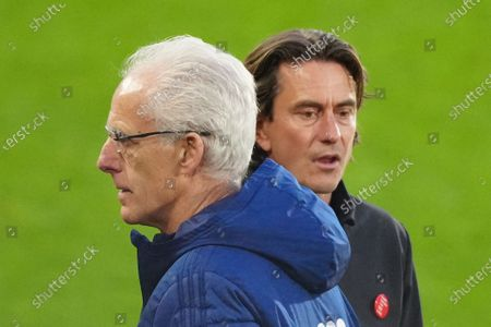Thomas Frank Brentford Manager and Mick McCarthy Manager of Cardiff City