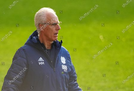 Mick McCarthy Manager of Cardiff City reacts