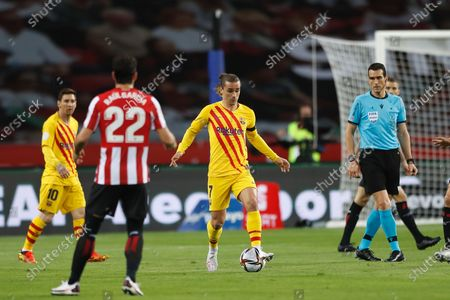 "Antoine Griezmann (Barcelona) - Football / Soccer : Spanish ""Copa del Rey"" final match between Athletic club de Bilbao 0-4 FC Barcelona at the Estadio La Cartuja in Sevilla, Spain."