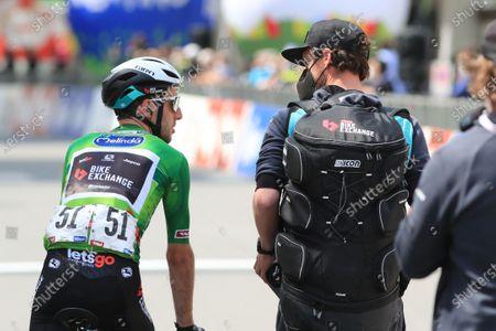 Simon Yates Team BikeExchange who kept the tour lead; Imst, Austria; Cycling Tour des Alpes Stage 3, Imst in Austria to Naturns/Naturno, Italy.