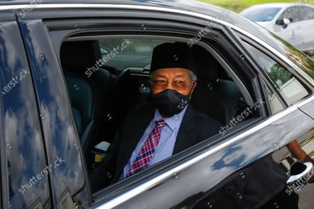 Editorial picture of Former Prime Minister Mahathir Mohamad at National Palace to handover a memorandum seeking the end of the state of emergency, Kuala Lumpur, Malaysia - 20 Apr 2021