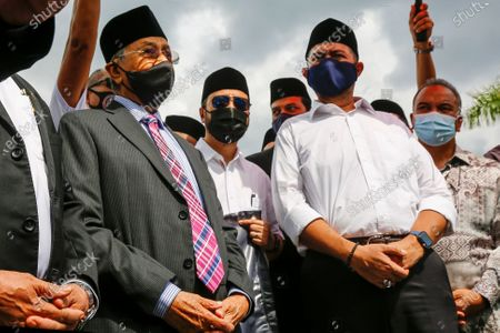 Editorial image of Former Prime Minister Mahathir Mohamad at National Palace to handover a memorandum seeking the end of the state of emergency, Kuala Lumpur, Malaysia - 20 Apr 2021