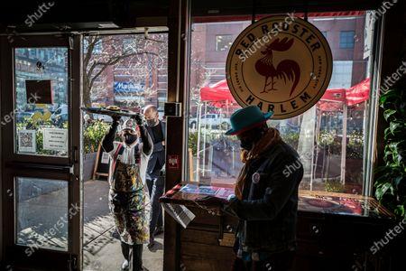 Editorial photo of Chef Marcus Samuelsson photoshoot, Harlem, New York, USA - 08 Mar 2021