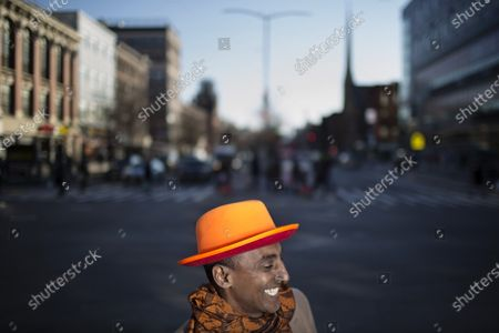 Stock Picture of Chef Marcus Samuelsson photographed on 125th Street and Lenox Avenue in Harlem, New York