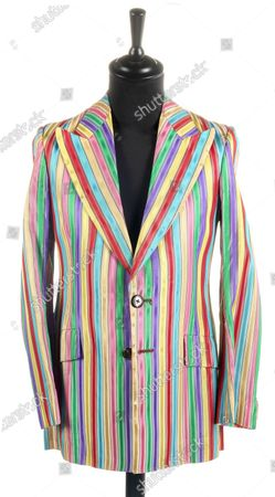 He's Like A Rainbow...  A stylish jacket worn by Keith Richards in his Rolling Stones heyday has emerged for sale for £6,000.  The satin rainbow jacket was made by late 60s Kings Road boutique clothes shop Granny Takes a Trip.  The hellraising musician, then aged in his mid-20s, owned it when the band were at the forefront of the 60s rebellion.