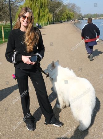 Exclusive - Jemima Goldsmith out and about, London