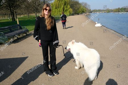 Exclusive - Jemima Goldsmith in Hyde Park