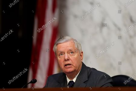U.S. Senator Lindsey Graham (R-SC) attends a Senate Judiciary Committee hearing on voting rights on Capitol Hill in Washington, DC, USA, 20 April 2021.