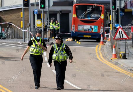 Pedestrian hit by bus, Porth