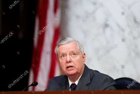 Sen. Lindsey Graham, R-S.C., speaks during a Senate Judiciary Committee hearing on voting rights on Capitol Hill in Washington