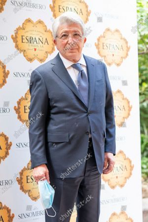 Stock Photo of Enrique Cerezo to the presentation of the bullfighting poster in a hand in hand between Enrique Ponce and Gonzalo Caballero in Madrid, Spain on April 20, 2021.