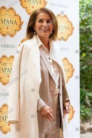 Ana Botella to the presentation of the bullfighting poster in a hand in hand between Enrique Ponce and Gonzalo Caballero in Madrid, Spain on April 20, 2021.