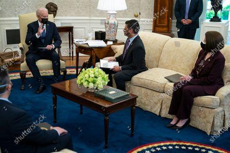 President Biden meeting with members of the Congressional Hispanic Caucus, Washington DC
