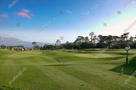 Stock Image of Landscapes of 'The Hay' Par Three course, redesigned by multi major winner Tiger Woods, on its inauguration opening day