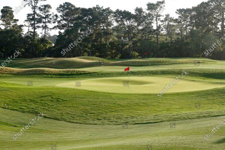 Editorial image of 'The Hay' Par Three opening day, Pebble Beach, California, USA - 20 Apr 2021